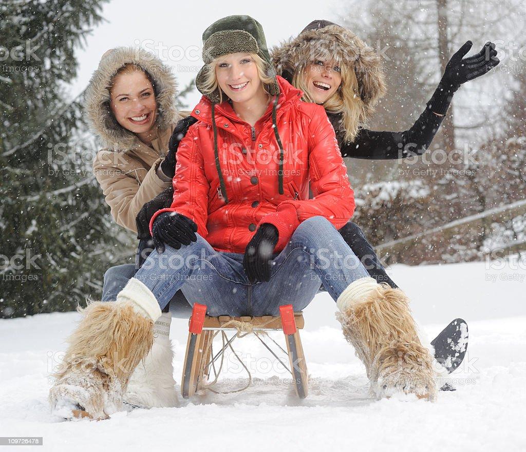 Snow Fun (XXXL) royalty-free stock photo