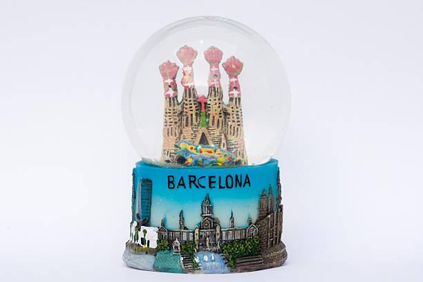 Snow Globe Barcelona stock photo