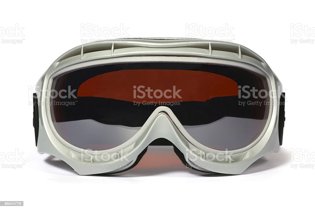 Snow goggles on white background  stock photo