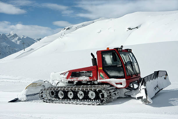 Snow groomer stock photo