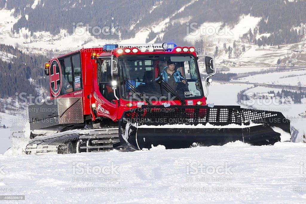Snow groomer royalty-free stock photo
