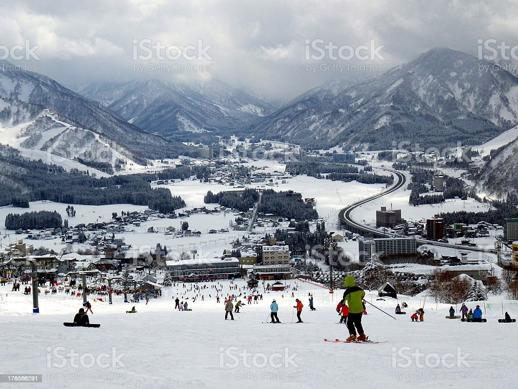 雪で Echigo Yuzawa 接地 ロイヤリティフリーストックフォト