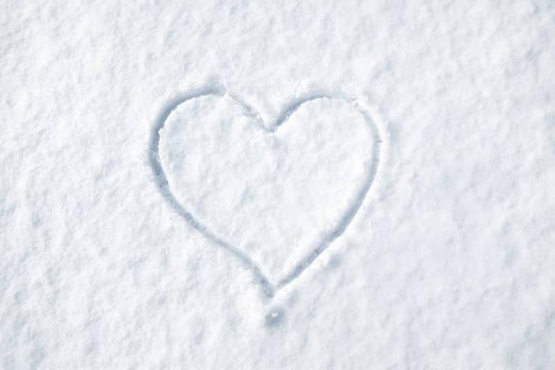 Snow heart stock photo