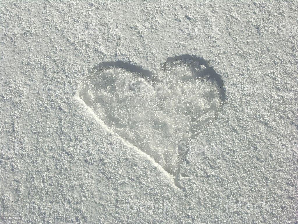 Snow Heart royalty-free stock photo