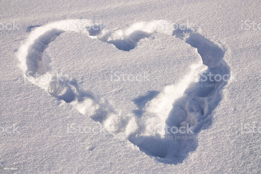 Snow heart royalty-free stock photo