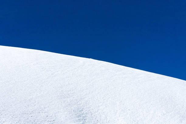 Snow hill stock photo