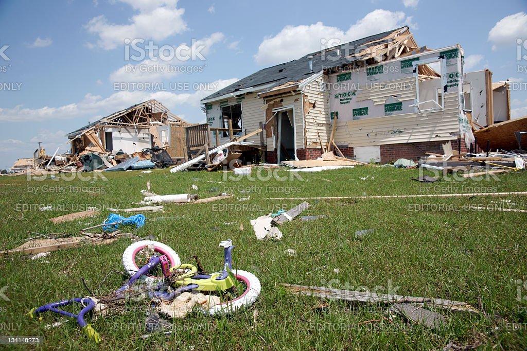 Snow Hill tornado damge royalty-free stock photo