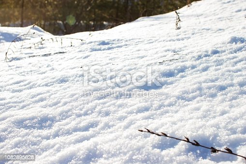 istock Snow hill winter background abstract. 1082895628