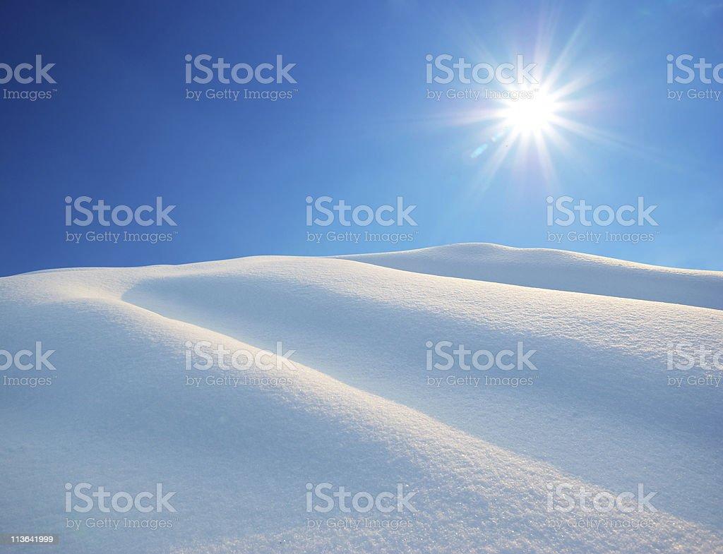 Snow hills royalty-free stock photo
