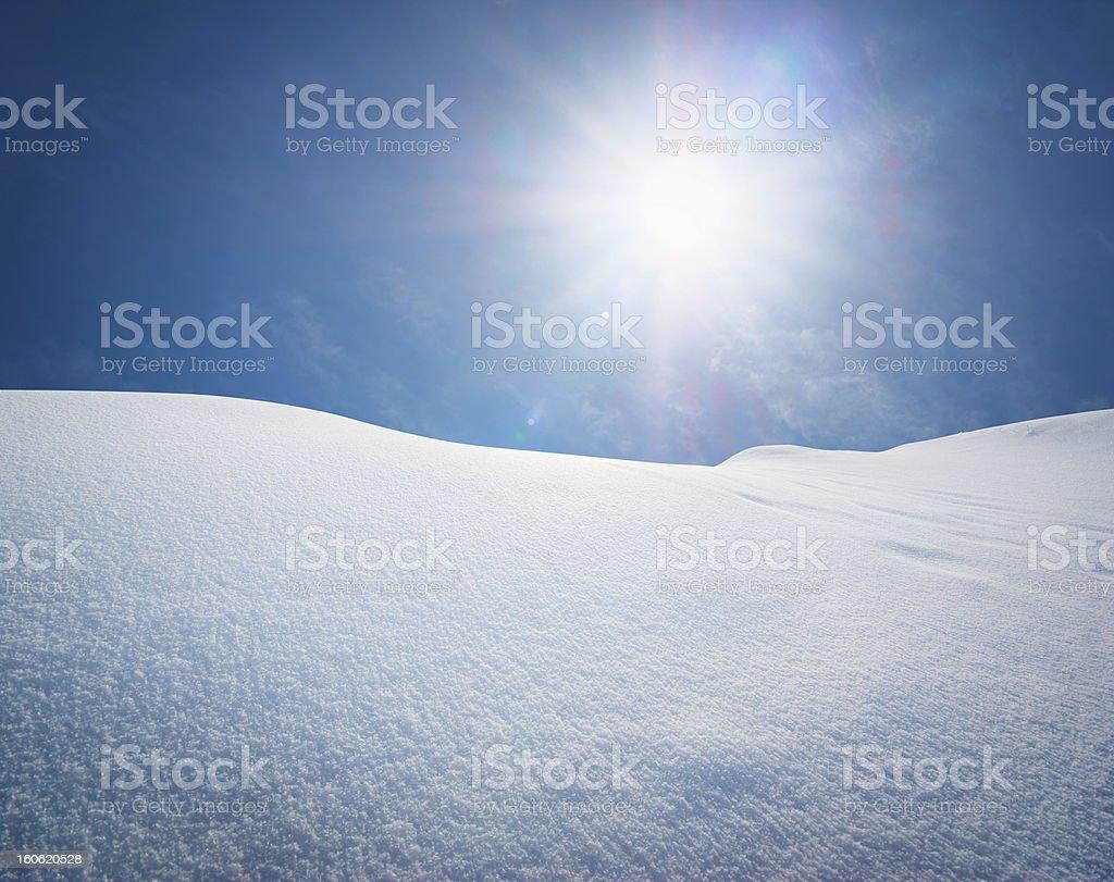 Snow hills. royalty-free stock photo
