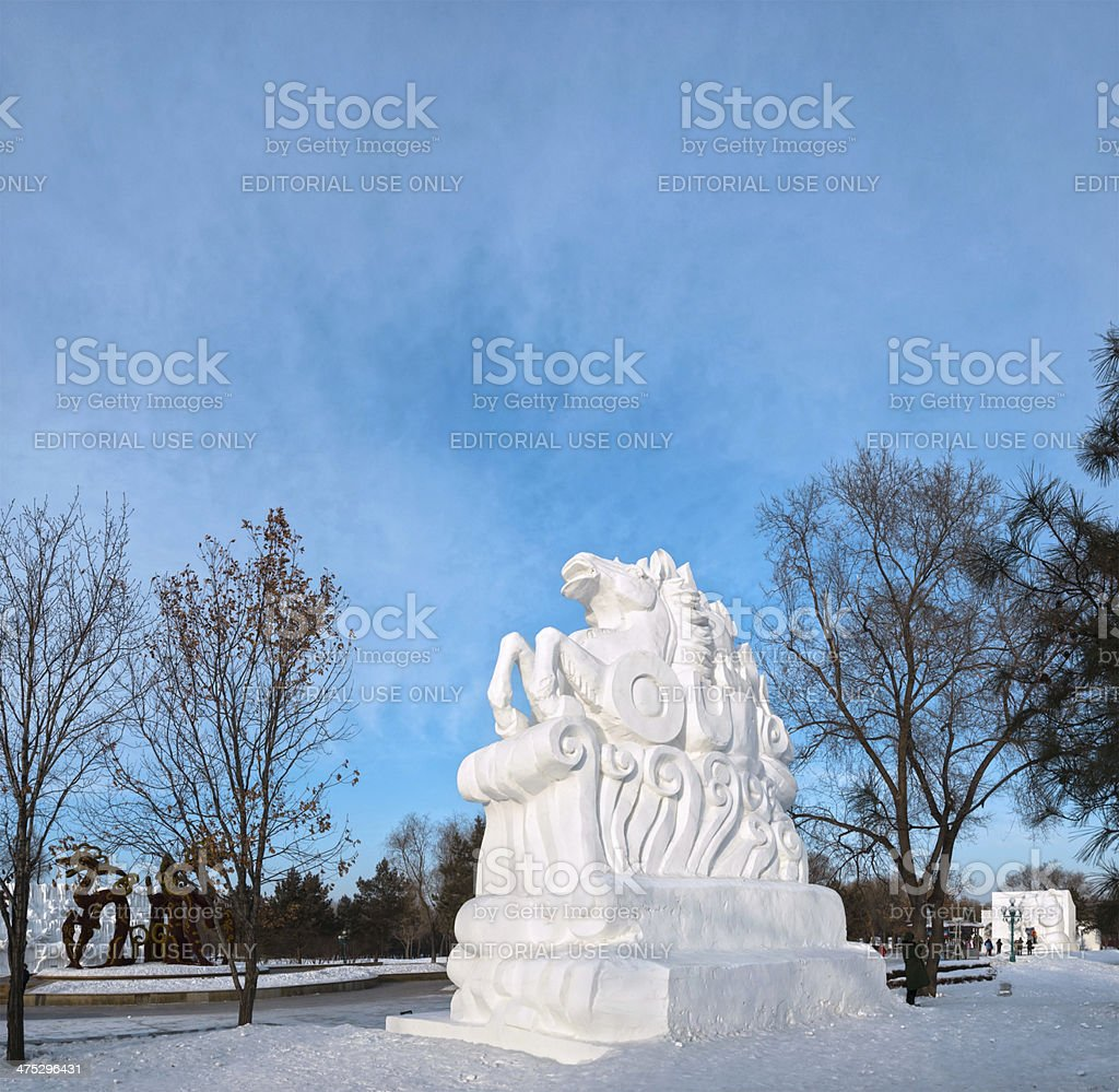 Snow Horse Sculpture Stock Photo Download Image Now Istock