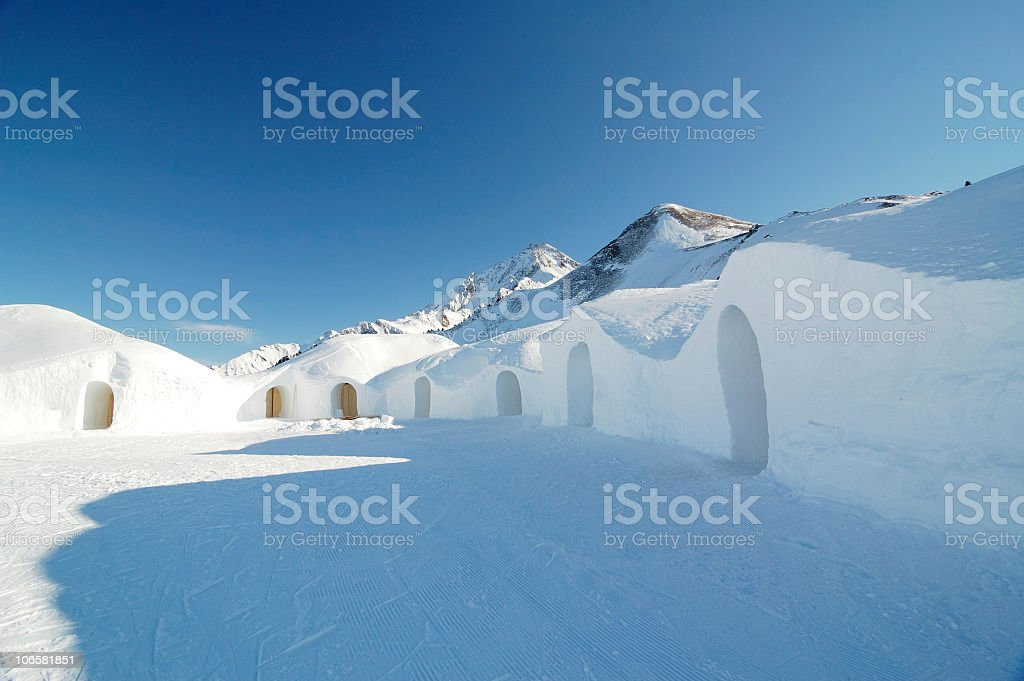 snow hotel royalty-free stock photo