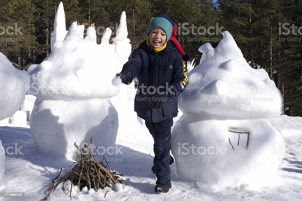 Snow houses for dwarfs royalty-free stock photo