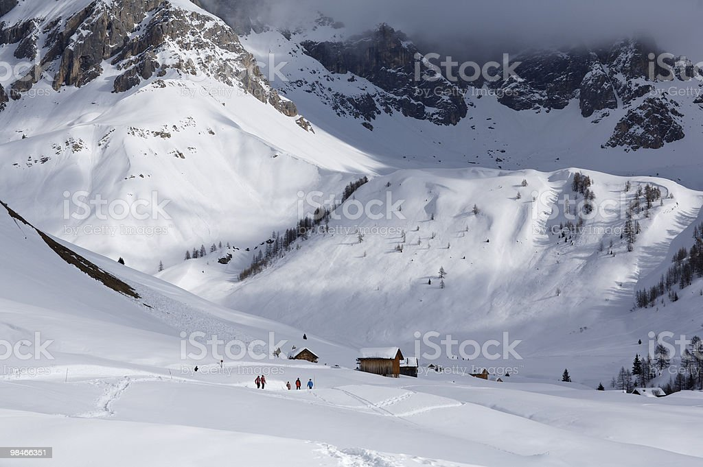 snow huts royalty-free stock photo