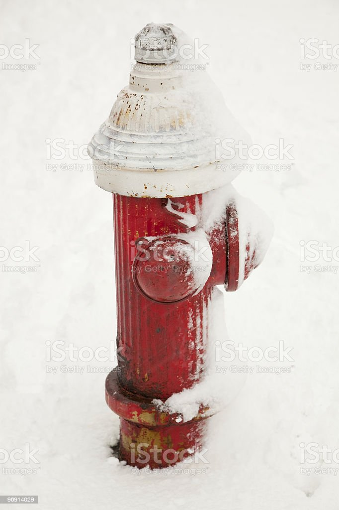 snow hydrant royalty-free stock photo