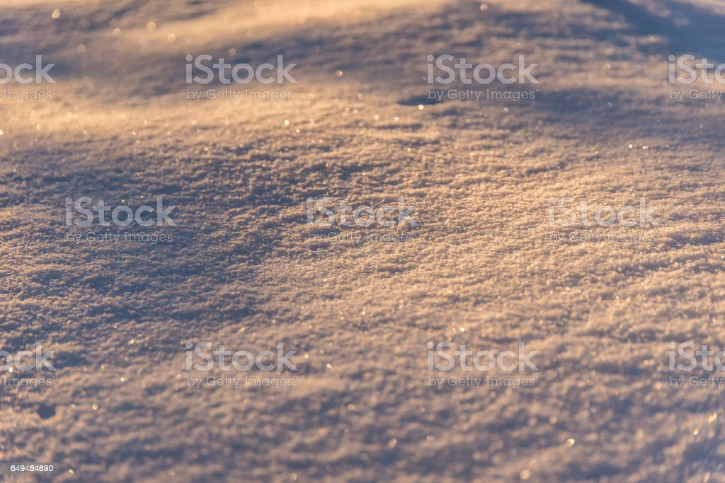 Snow in a sunset stock photo