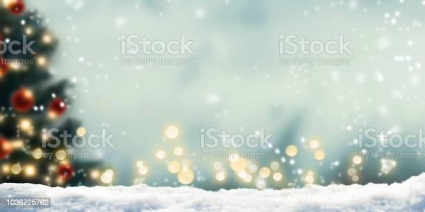Photo of snow in front of wintery xmas background