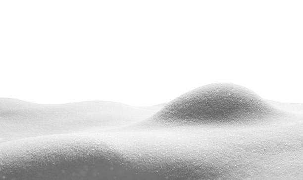 snow in gray tones - snow pile stock photos and pictures