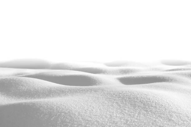 Snow in gray tones stock photo