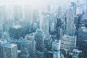 Snow in New York City - fantastic image