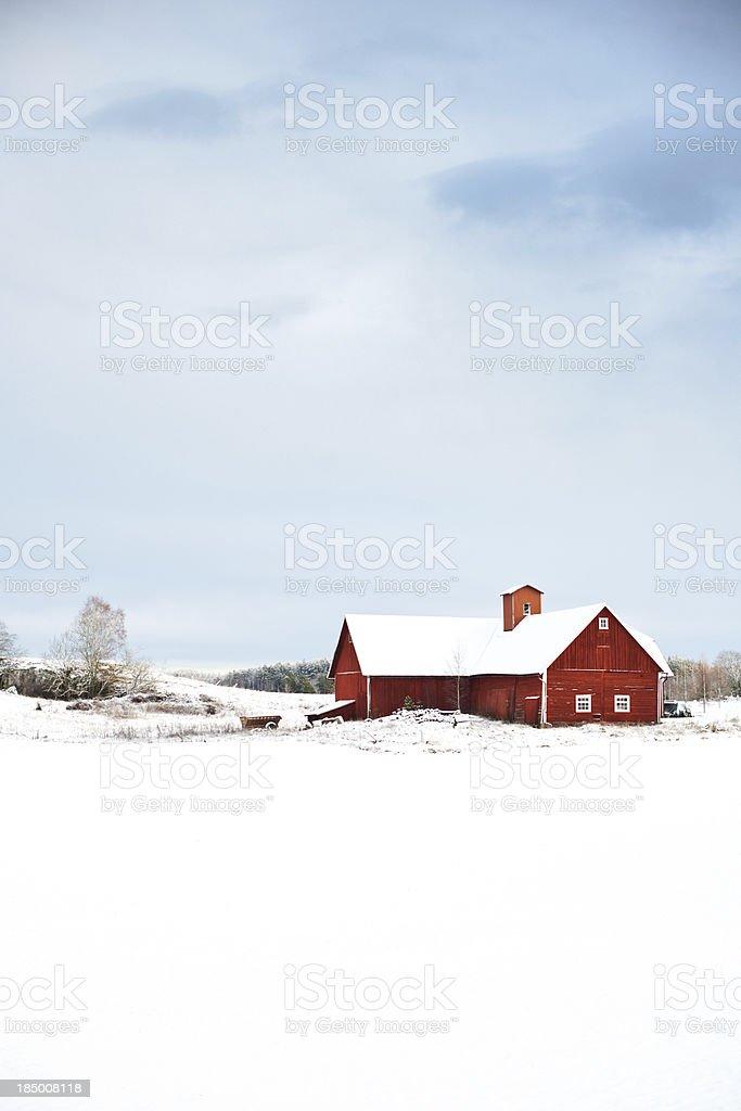 Snow in Sweden stock photo