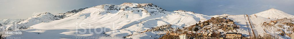 Snow in the Andes stock photo