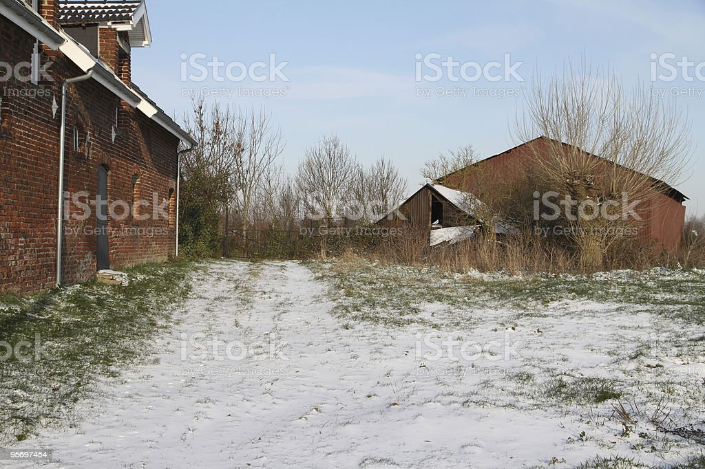 snow in the country royalty-free stock photo