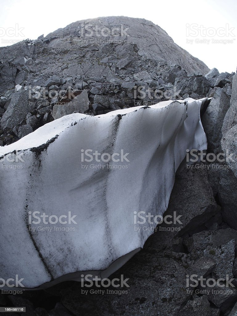 Snow in the mountains royalty-free stock photo