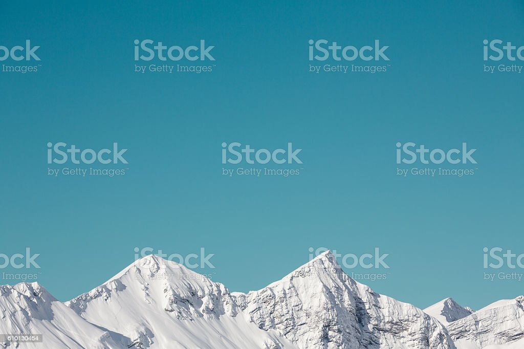 La neige dans les montagnes - Photo