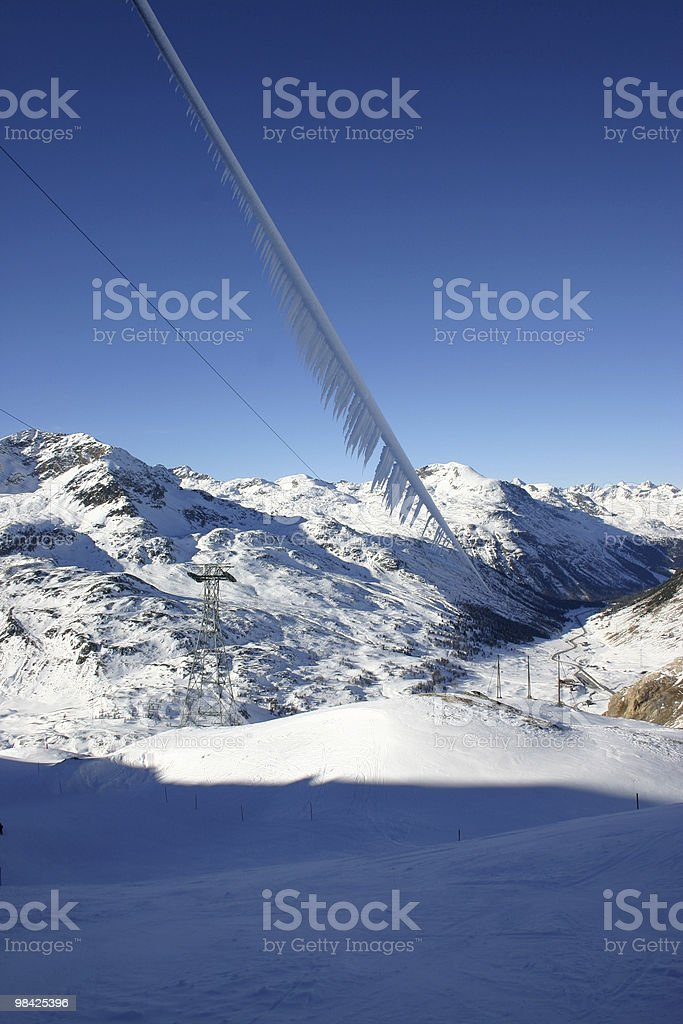 Neve in montagna foto stock royalty-free