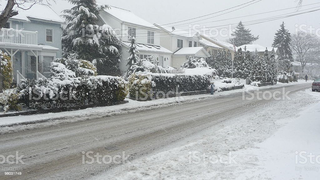Snow in the suburbs royalty-free stock photo
