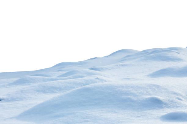 雪は、白い背景で隔離 - 雪景色 ストックフォトと画像