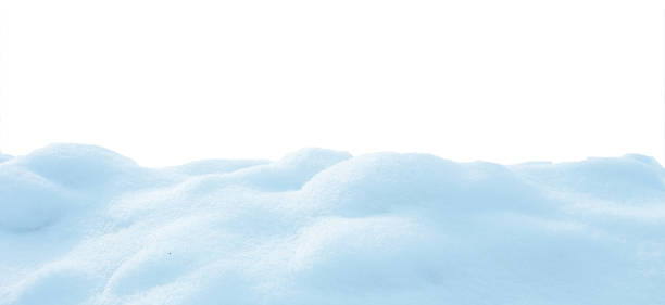 snow isolated on white background stock photo