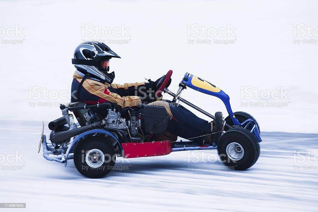 Snow Karting stock photo