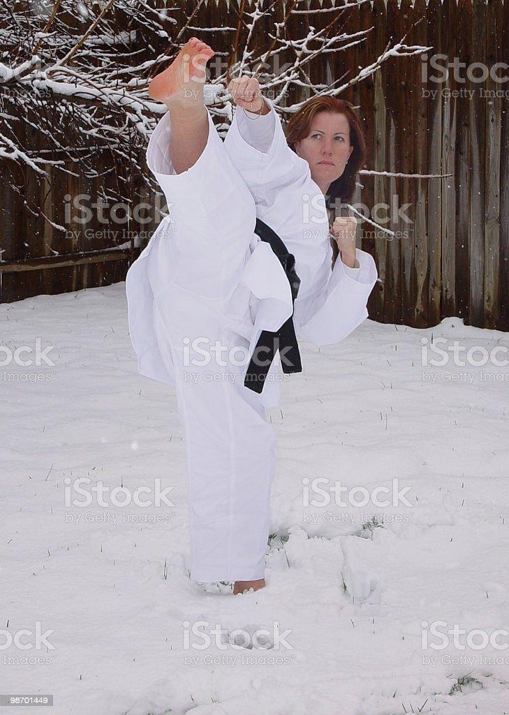 Snow kick royalty-free stock photo