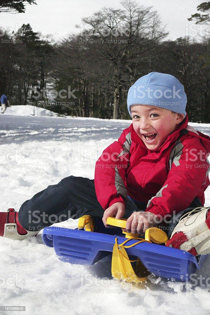 Snow Kid stock photo