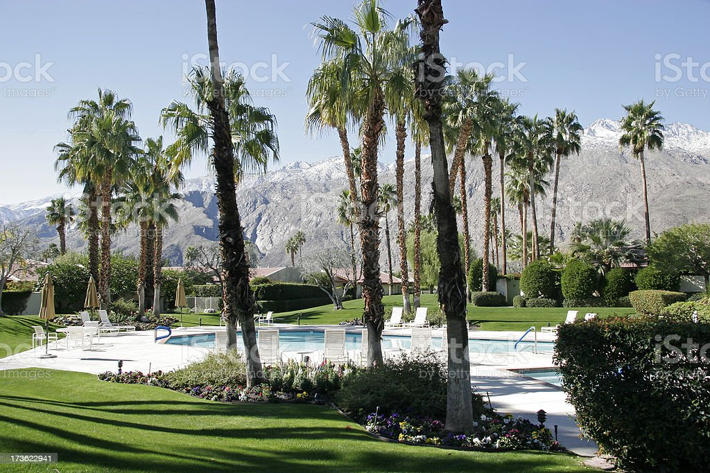 Snow Kissed Mountains Of Palm Springs royalty-free stock photo