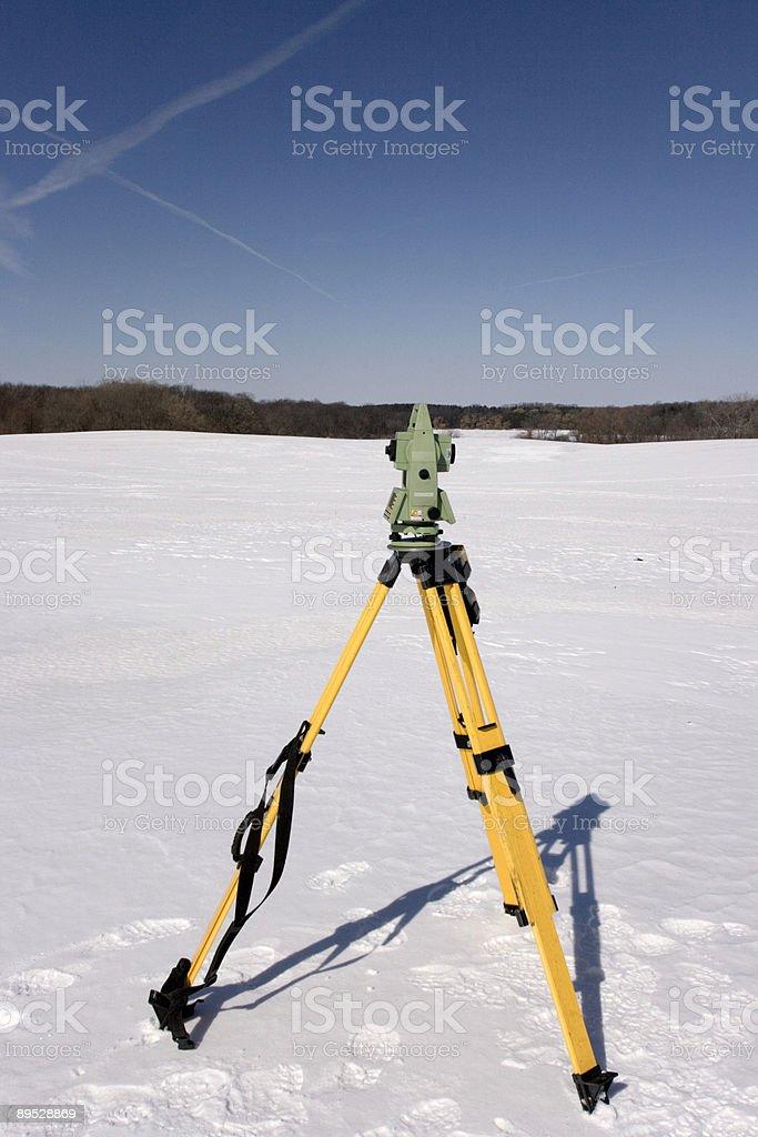 Snow Land Surveying royalty-free stock photo
