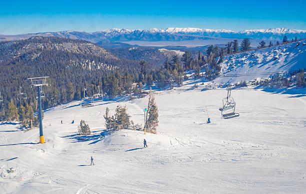Snow landscape on Mammoth Mountain – Foto