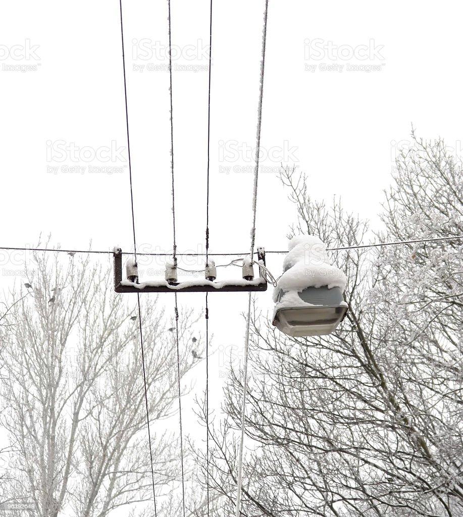Snow lantern - Royalty-free Backgrounds Stock Photo