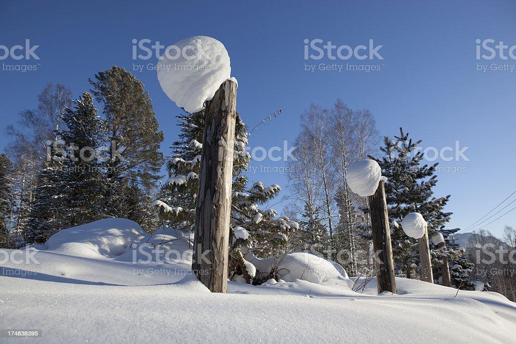 Snow line royalty-free stock photo
