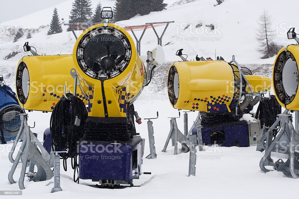 Snow maker royalty free stockfoto
