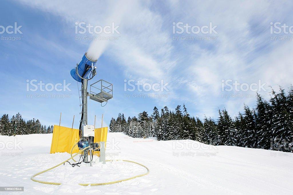 XXL snow making machine stock photo