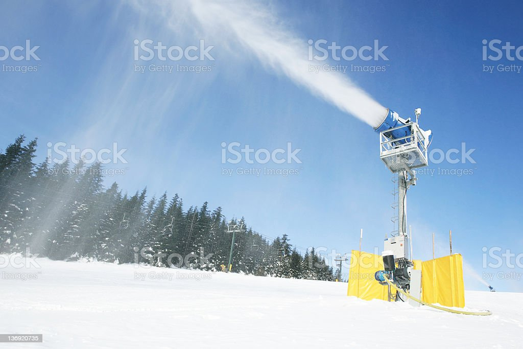 XL snow making machine stock photo