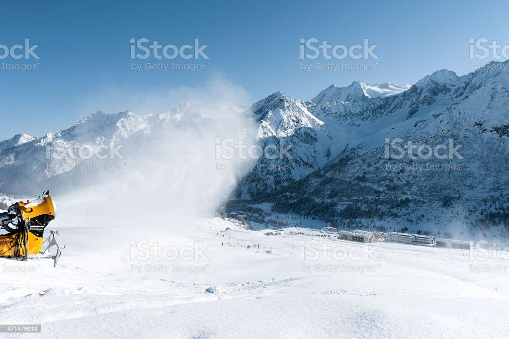 Snow making machine royalty-free stock photo