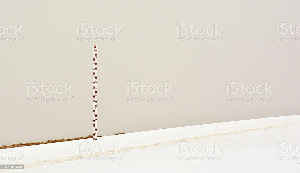 snow measuring stock photo