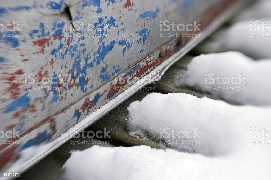 Schnee Schmelzen per Boot horizontal Lizenzfreies stock-foto