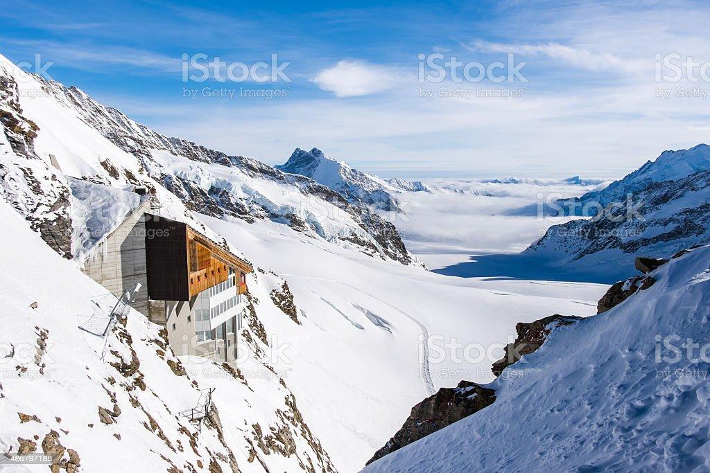 Snow mountain am Jungfraujoch, Schweiz – Foto