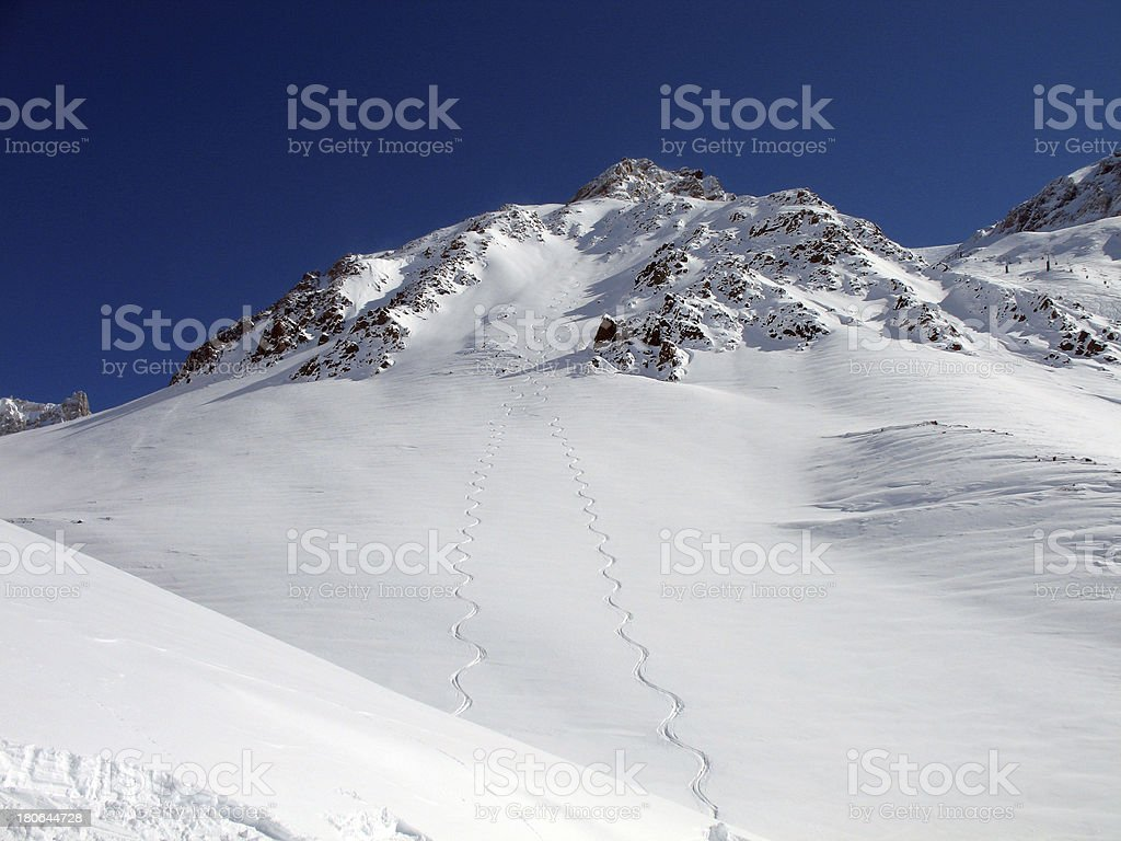 Snow Mountain Clear Sky royalty-free stock photo