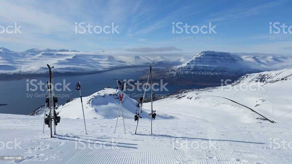 snow mountain in Iceland royalty-free stock photo